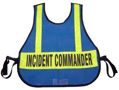 Mesh Safety Vest For The Incident Command And Triage/MC System