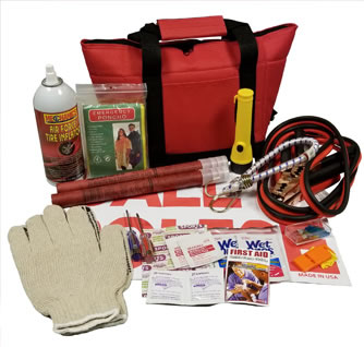 Roadside Emergency Kit with Flares