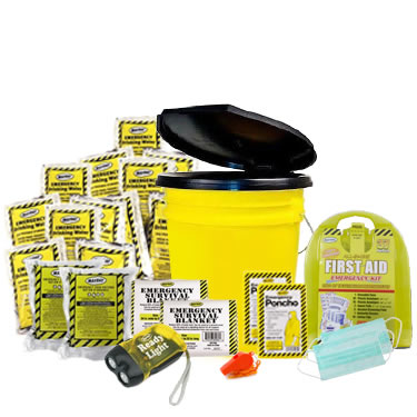 2 Person Basic Emergency Kit in a Bucket