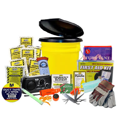 3 Person Advanced Emergency Kit in a Bucket