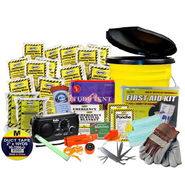 2 Person Advanced Emergency Kit in a Bucket