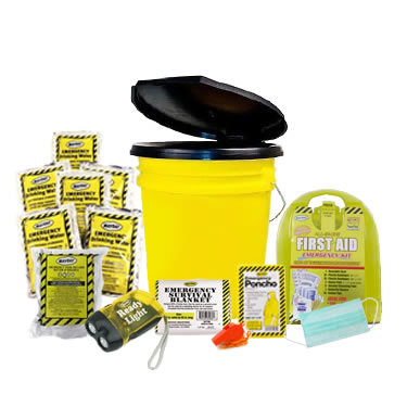 1 Person Basic Emergency Kit in a Bucket