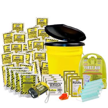 4 Person Basic Emergency Kit in a Bucket