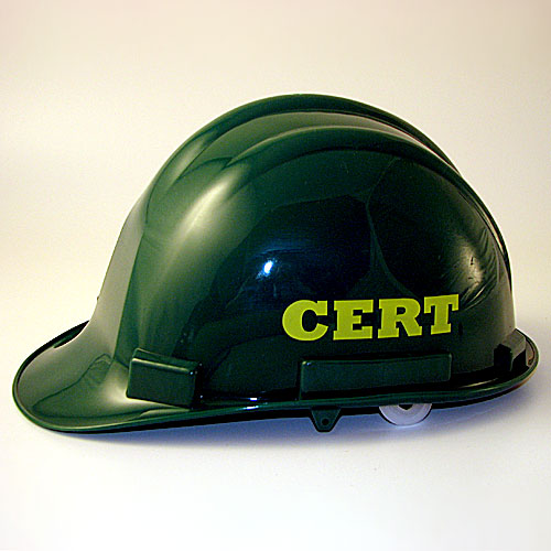 CERT hard hat