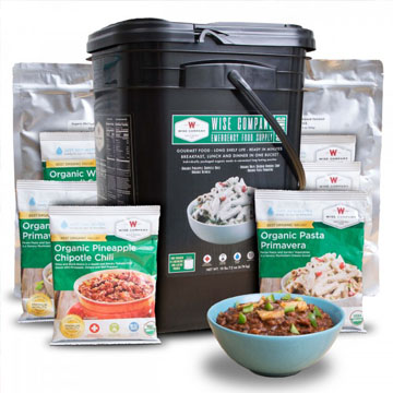 Organic Emergency Freeze Dried Food - 90 Servings<br>25 Years Shelf Life<br>Free Shipping!